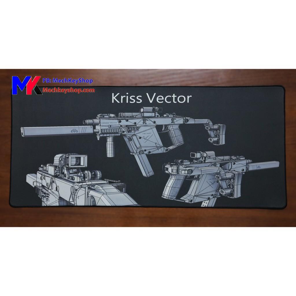 [Ảnh thật] Tấm lót chuột cỡ 90*40 cm dày 4mm, hình súng Kriss Vector Pubg