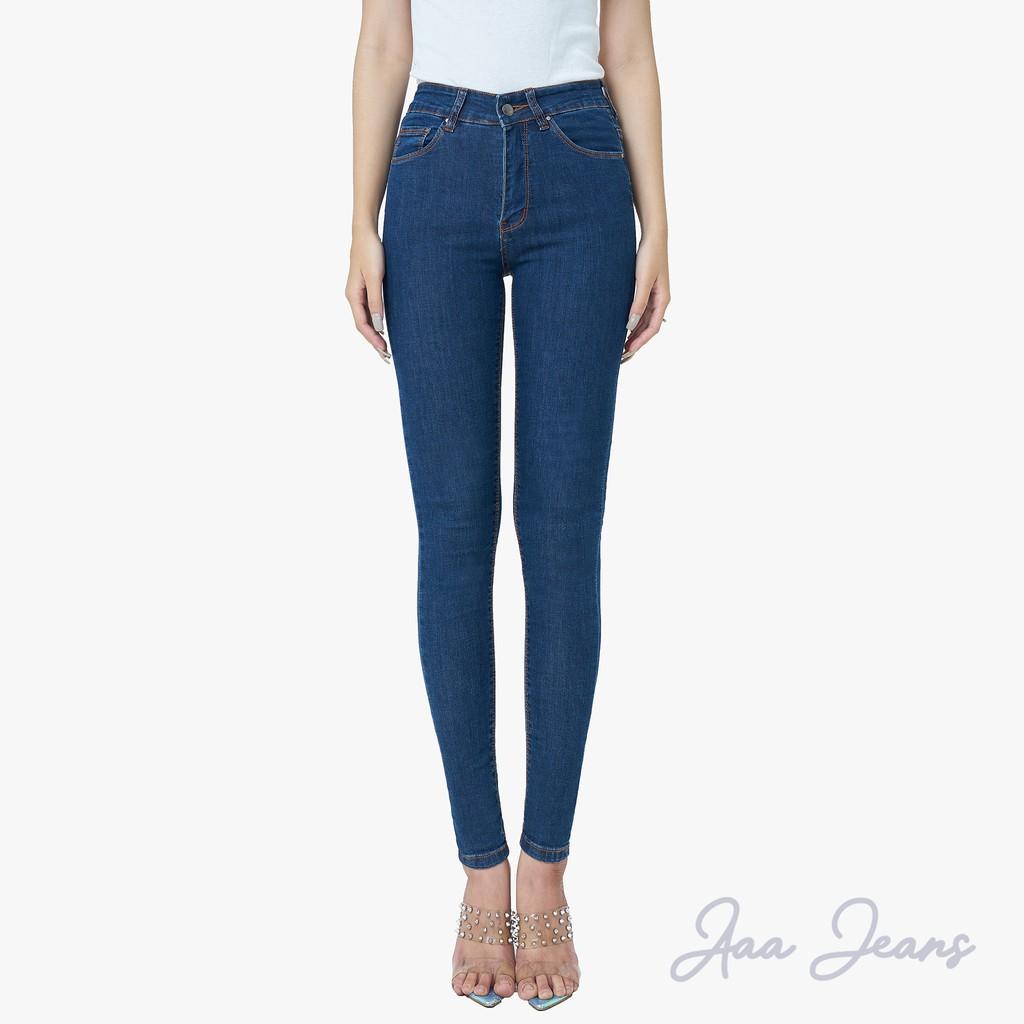 Quần Jean Pha Sợi Cà Phê Aaa Jeans Dáng Skinny lưng cao...