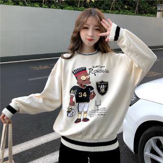 Áo Sweater In Họa Tiết Hoạt Hình Xinh Xắn Dành Cho Nữ