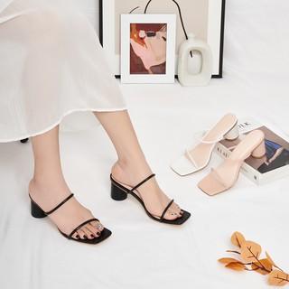 Giày Cao Gót Quai Dây Gót Tròn Cao 5 cm GB00011 thumbnail