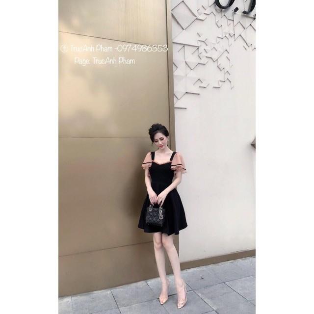 Mặc gì đẹp: Tung bay với (Bán sỉ) Đầm Váy xòe tiểu thư phối voan (Ảnh thật) (Cam kết hàng y hình) Đầm Váy dự tiệc đám cưới MCX