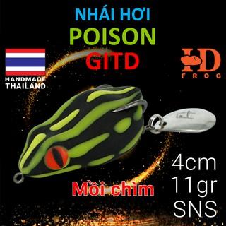 NHÁI HƠI CHÌM POISON GITD – Mồi giả Thái Lan câu lure cá Lóc giá rẻ siêu nhạy – 3.5CM/11GR