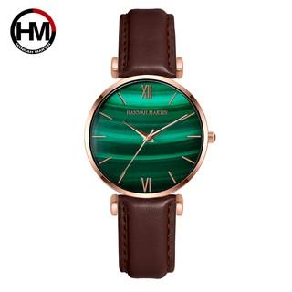 Đồng hồ nữ HANNAH MARTIN chính hãng - DÂY DA model HM-152PH - bảo hành 1 năm thumbnail