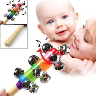 Rainbow Rattle Baby Children Kids Handbells Educational Developmental Toy Gift Bed Bells Infant