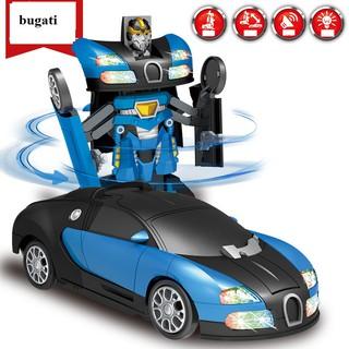 Commbo 2 xe Robot biến hình pin Bugati hoặc 2 xe Robot biến hình pin Captain