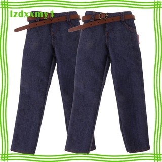 """Kiddy 1/6 Scale Male Classic Denim Jeans Pants for 12"""" Action Figures Body 2pcs"""