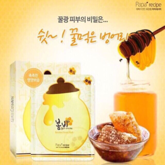 Mặt nạ trắng da tinh chất mật ong Paparecipe – BomBee honey Korea