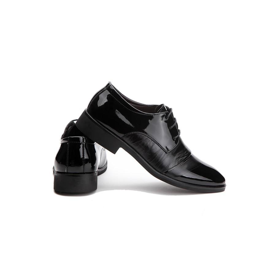 Giày tây nam Zapas dáng xỏ GT011 (Đen)
