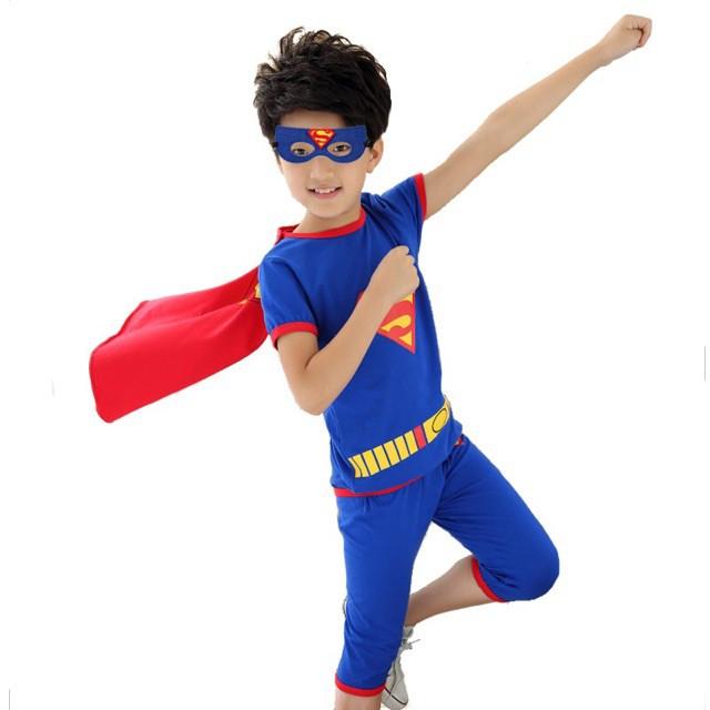 [ORDER] Set bốn món đồ áo quần khăn choàng và mặt nạ siêu nhân cho bé chất đẹp ( coi...