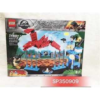 Đồ chơi logo ráp khủng long bay đỏ 212M 34006