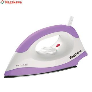 Bàn ủi 1200W Nagakawa NAG1502 mặt đế phủ chống dính Teflon, cảm biến nhiệt ngắt an toàn