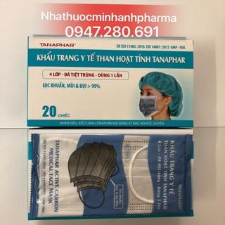 Khẩu trang y tế than hoạt tính tanaphar 4 lớp ( Hộp 20 chiếc ) thumbnail