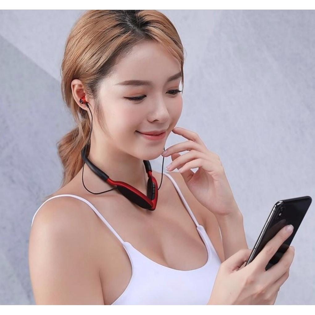 Tai phone bluetooth 5.0 Bass-Tress cực ấm D01 - Tai phone thể thao có hỗ trợ thẻ nhớ 32GB (HÀNG NHẬP KHẨU)