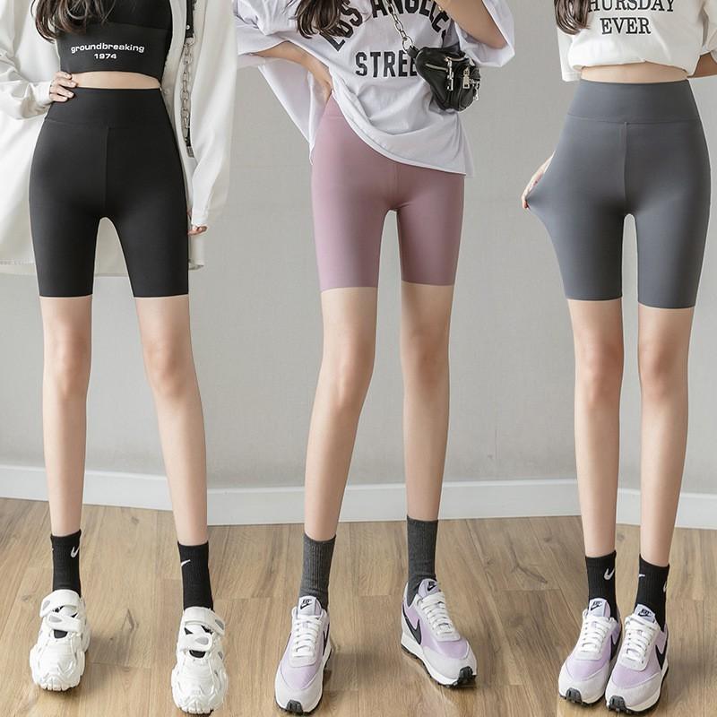 Mặc gì đẹp: Thoáng mát với Quần Legging Thể thao nữ Cạp cao Cao cấp Hàn Quốc Quần Đùi Cạp cao Biker Tập Gym Yoga Aerobic Mùa Hè