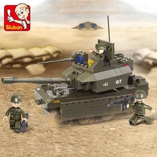 219PCS Sluban Building Blocks Educational Kids Construction Toy M1A2 Abrams Tank B0287