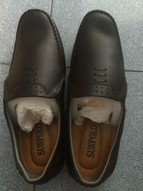 Đánh giá sản phẩm Giày Mọi Nam Da Bò SUNPOLO Đen Nâu - SU2098DN của mymguyen228