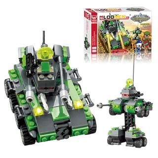 Bộ xếp hình lego xe tăng, robot