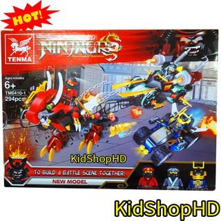 Bộ Lego Xếp Hình Rồng Chiến Đấu 294 Chi Tiết. Lego Ninjago Lắp Ráp Cho Bé Chơi Cực Thích