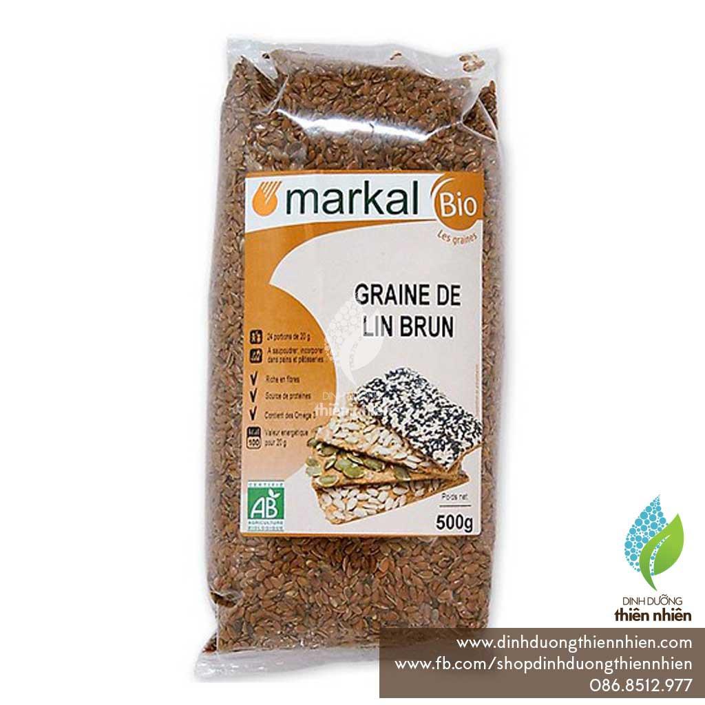Hạt Lanh Nâu Hữu Cơ Markal Organic Flax Seeds, 500g