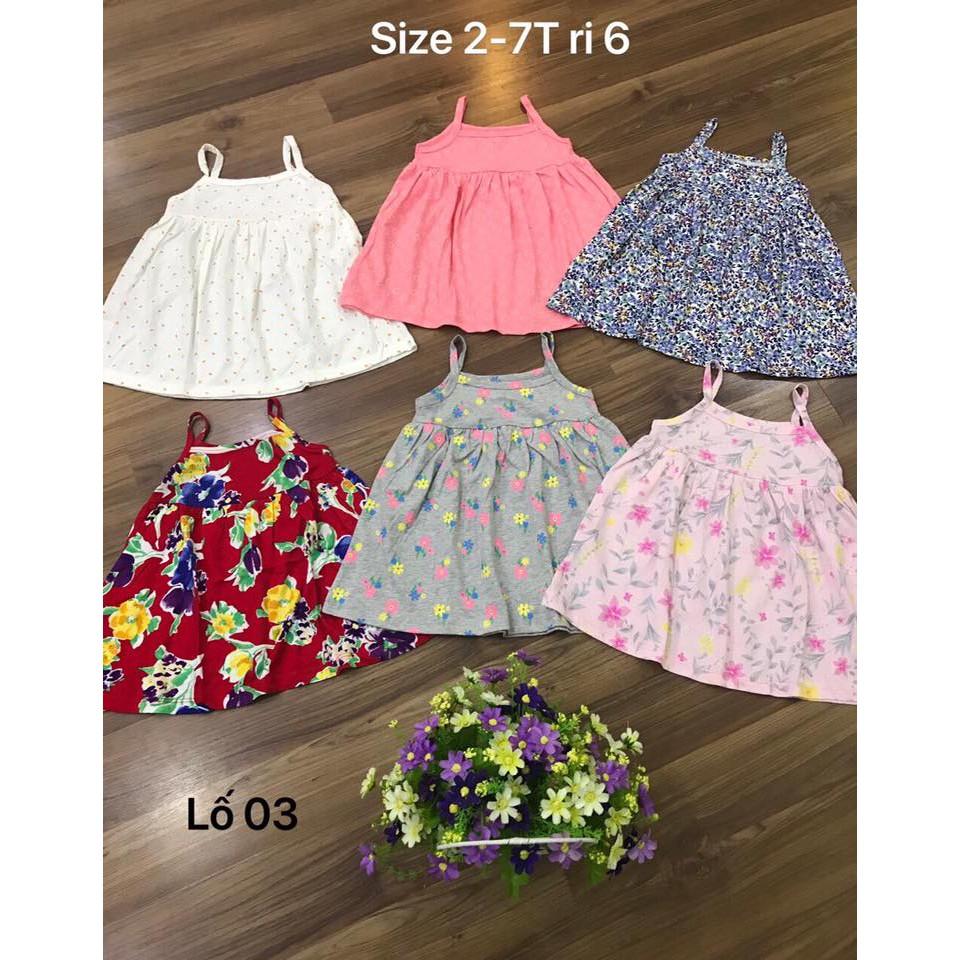 Váy 2 dây hàng xuất dư cho bé