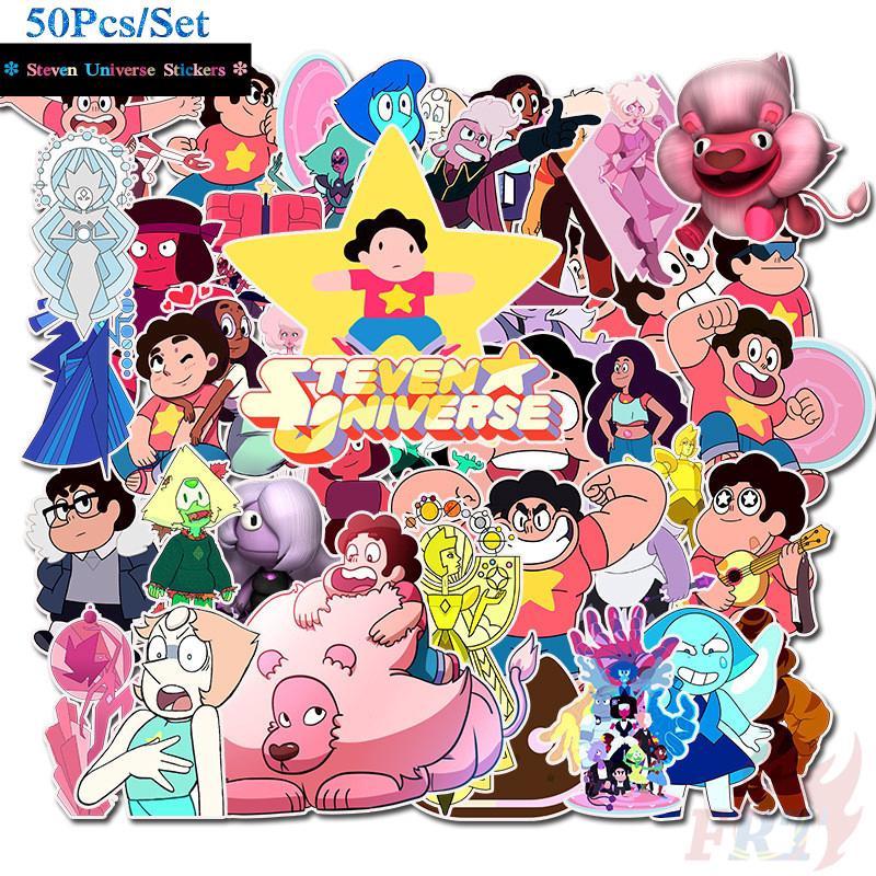❉ Steven Universe Giấy và decal dán tường ❉ 50Pcs/Set Cartoon TV Show Mixed  Doodle Stickers