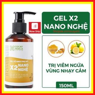 Gel X2 Nano Nghệ 150 ml Dung dịch vệ sinh phụ nữ Cam kết hàng chính hãng Cocayhoala thumbnail