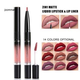 JM HANDAIYAN 2 in 1 Dual Head Matte Lip Gloss Liner Pen Waterproof Liquid Lipstick thumbnail
