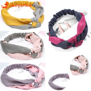 L□ Twist Knot Headband Elastic Wrap Hair Band Hairband Sports Headwear Mask Makeup Tool