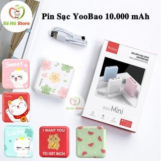 Pin Sạc Dự Phòng YooBao 10.000 mAh Chính Hãng (6024 Mini) - Có 2 Đầu Sạc Micro + Lightning, 2 Cổng USB( Video chi tiết)