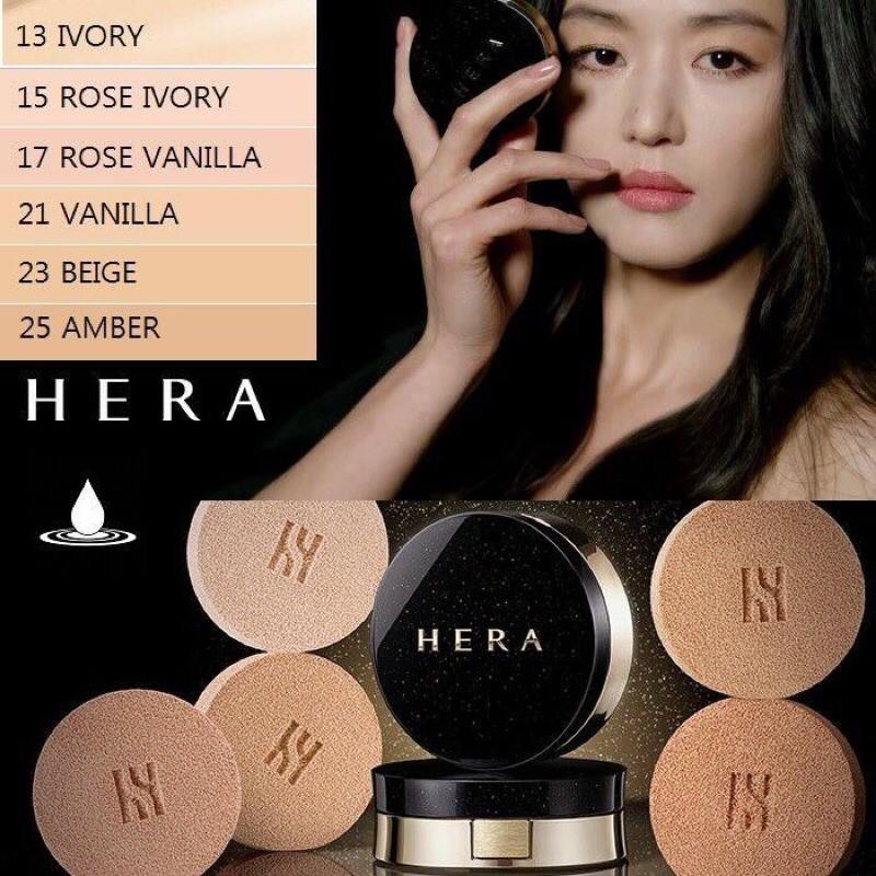 Phấn nước Hera Black Cushion Spf34/Pa++ ( KÈM 1 LÕI REFILL)