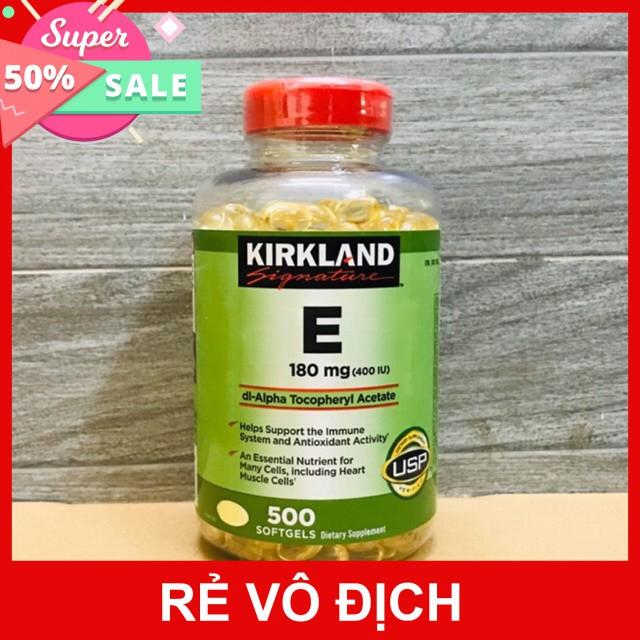 [FREESHIP 50K] [DATE 2022] Viên Uống Vitamin E Hỗ Trợ Làm Đẹp Da & Chống Lão Hóa Kirkland Vitamin E 400 I.U 500 Viên - 23066179 , 3504257968 , 322_3504257968 , 480000 , FREESHIP-50K-DATE-2022-Vien-Uong-Vitamin-E-Ho-Tro-Lam-Dep-Da-Chong-Lao-Hoa-Kirkland-Vitamin-E-400-I.U-500-Vien-322_3504257968 , shopee.vn , [FREESHIP 50K] [DATE 2022] Viên Uống Vitamin E Hỗ Trợ Làm Đẹ