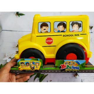 Xe ô tô cho bé, hàng Sato Việt Nam, xe bus thả hình 4 trong 1