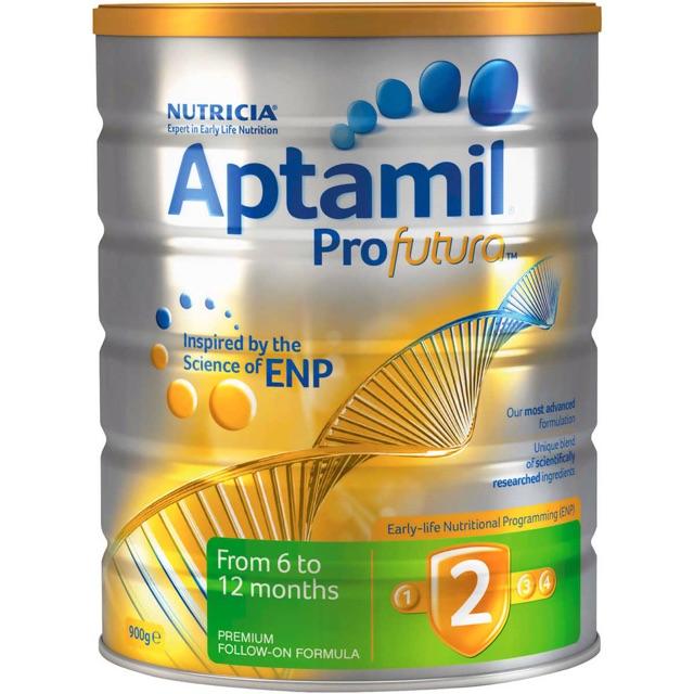 Sữa Aptamil Pro Futura số 2 cho bé từ 6-12 tháng xách tay Úc.( bill ở hình bên cạnh )