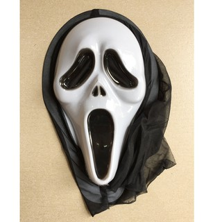 Mặt nạ hóa trang Halloween sát nhân giấu mặt có vải trùm đầu