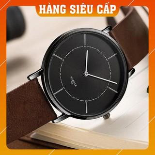 [CAO CẤP] Đồng hồ nam Yazole 508 2 kim dây da thời trang sang trọng lịch lãm