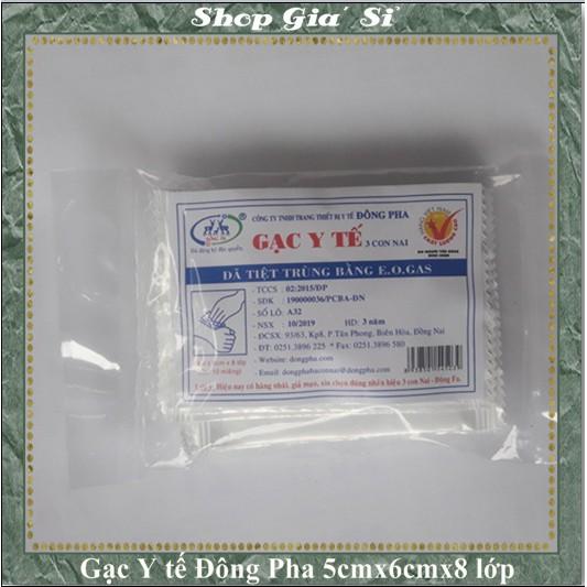Gạc Y Tế Tiệt Trùng Đông Pha chăm Sóc Chấn Thương (5cmx6cm) 10 miếng