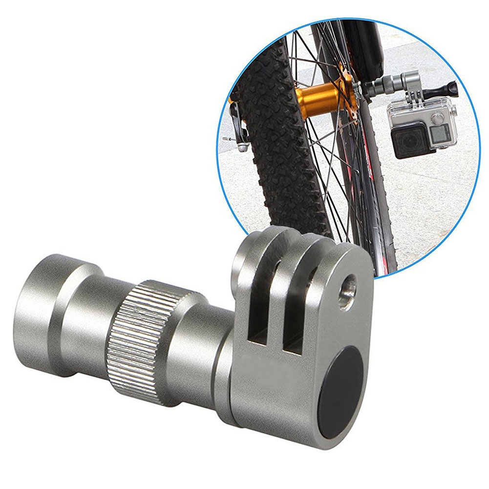 Portable Cycling Photography Accessories Fixed Bracket Bicycle Axle Connector Camera Mount For GoPro