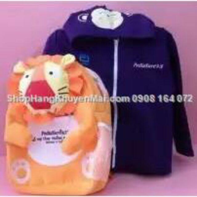 COmbo balo vải & áo khoác liền mũ cho bé mầm non - 2551494 , 686688869 , 322_686688869 , 105000 , COmbo-balo-vai-ao-khoac-lien-mu-cho-be-mam-non-322_686688869 , shopee.vn , COmbo balo vải & áo khoác liền mũ cho bé mầm non