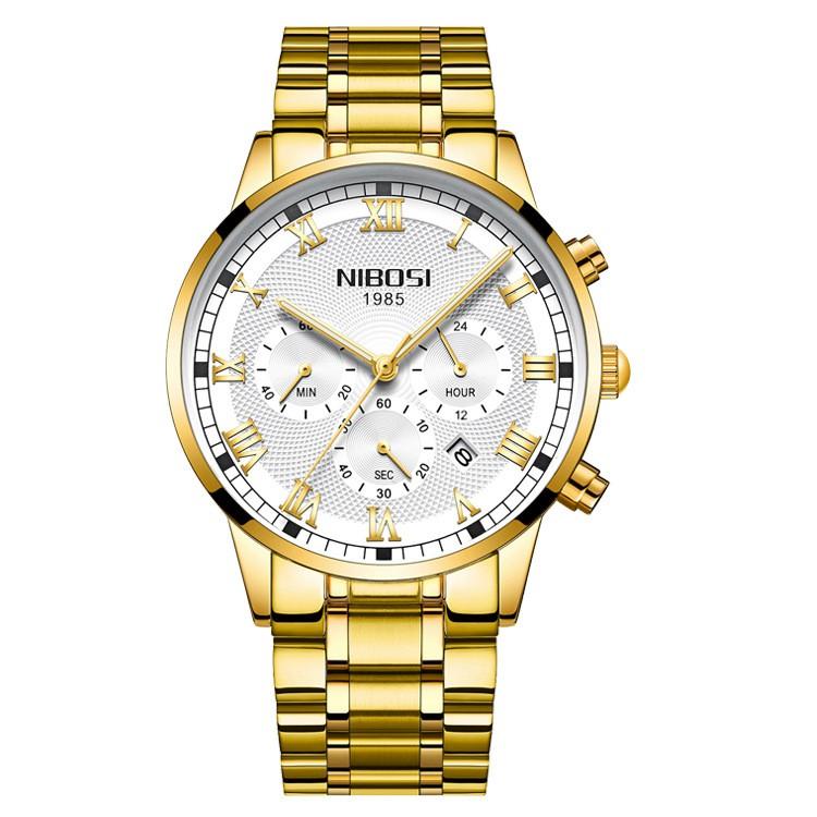 [Tặng vòng tay] Đồng hồ nam NIBOSI chính hãng NI2339.04 fullbox, dây hợp kim cao cấp
