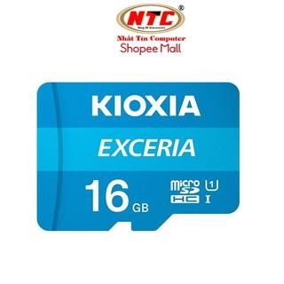 Thẻ nhớ MicroSDHC Kioxia Exceria 16GB UHS-I U1 100MB/s (Xanh)