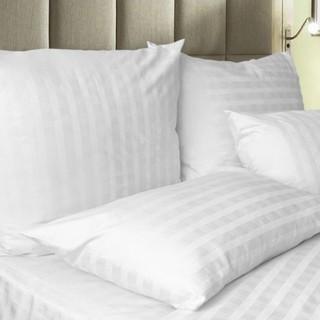 Gối Lông vũ Microfiber Sọc trắng dùng trong khách sạn và gia đình sang mịn đẳng cấp 5 sao - hình 2