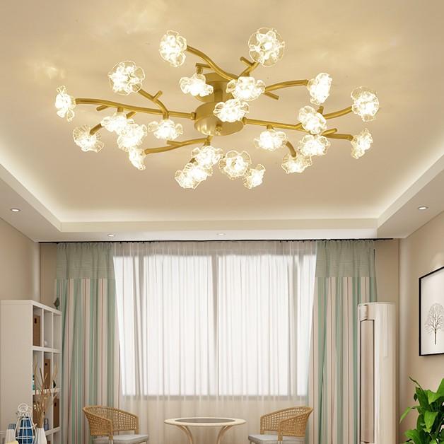 Đèn chùm pha lê MONSKY PAKER 3 màu ánh sáng trang trí nội thất hiện đại - kèm bóng LED chuyên dụng