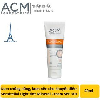 Kem chống nắng, kem nền che khuyết điểm Sensitelial Light tint Mineral Cream SPF 50+ 40ml thumbnail