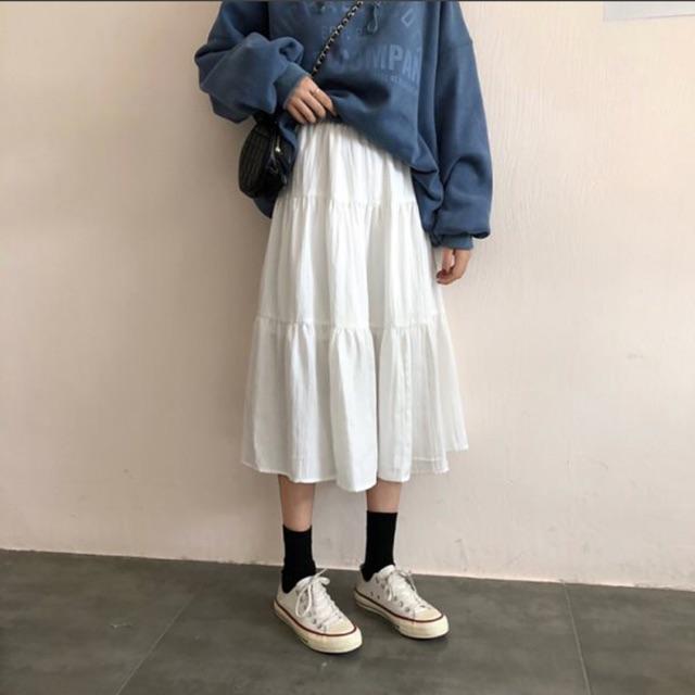 Chân váy trắng
