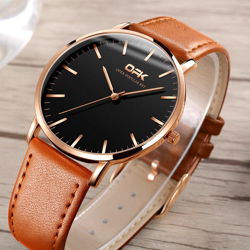 OPK 8101 Quartz Watch Men's Fashion Leather Strap
