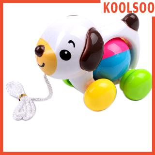 [KOOLSOO] Baby Learning Walk Toy, Multi-Colored Dog Vehicle with Sound, Kids Toddlers Developmental Toy