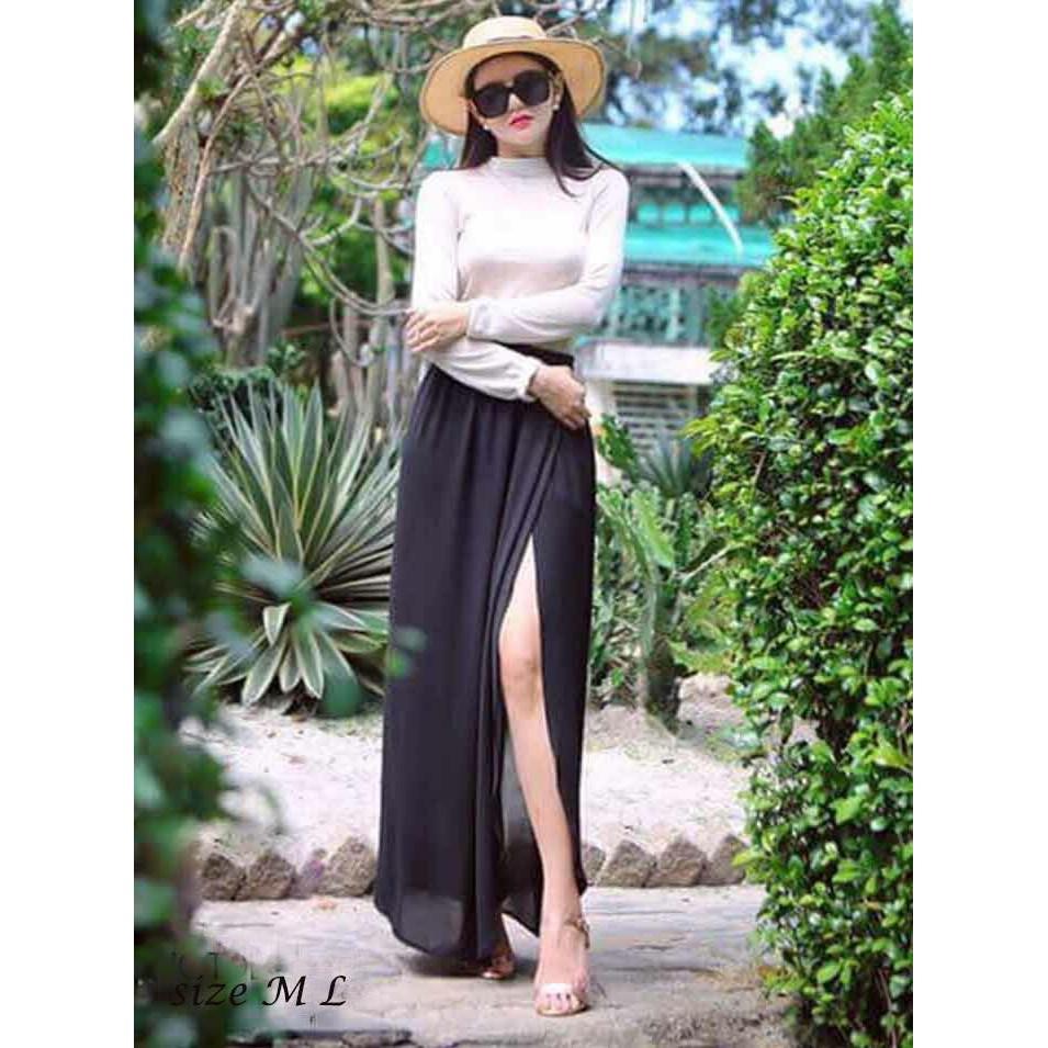 1023744499 - Set áo dài tay chân váy xẻ tà