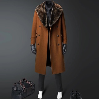 Áo khoác dạ măng tô nam cổ lông tháo rời cao cấp nhập khẩu tại Hà Nội, tp HCM. Đỉnh cao của sự tinh tế,lịch lãm quý phái