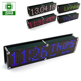 Đồng hồ led Matrix 8x40 V2 - Xanh dương