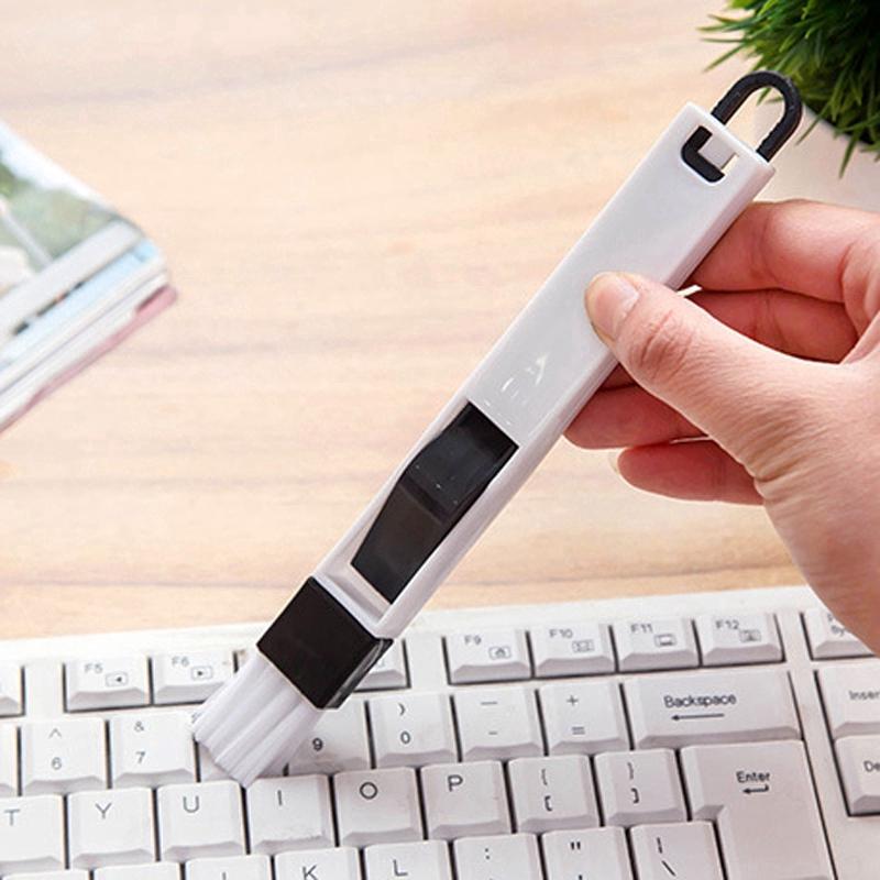 Chổi mini vệ sinh bàn phím 2 trong 1 đa dụng hai màu trắng đen
